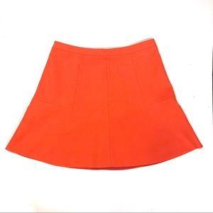 J Crew Orange Flared Skirt-6